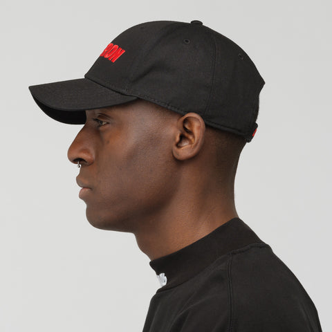 Heron Preston Heron Racing Baseball Cap in Black/Red - Notre