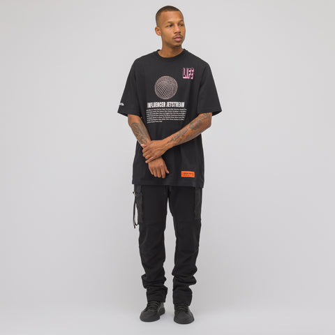 Heron Preston Jetstream Short Sleeve T-Shirt in Black Crystal - Notre