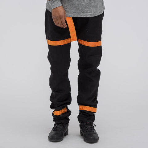 Heron Preston KK Tape Raw Denim in Black - Notre