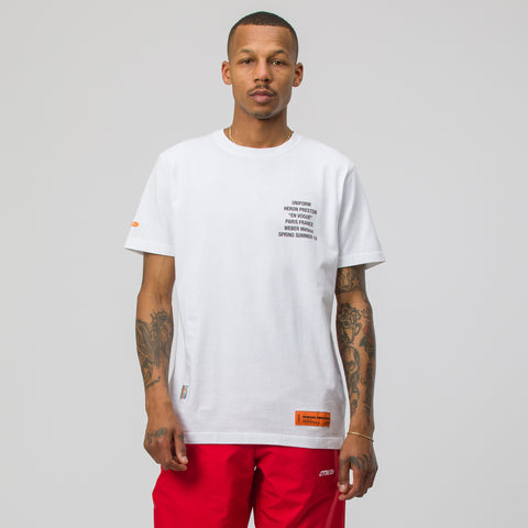 Heron Preston Metal Worker T-Shirt in White Multi - Notre