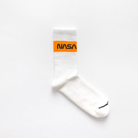 Heron Preston NASA Cotton Rib Socks in White - Notre