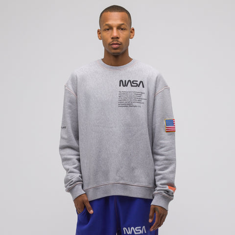 Heron Preston Grey NASA Crewneck Sweatshirt - Notre