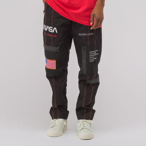 Heron Preston Black NASA High Tech Pants - Notre