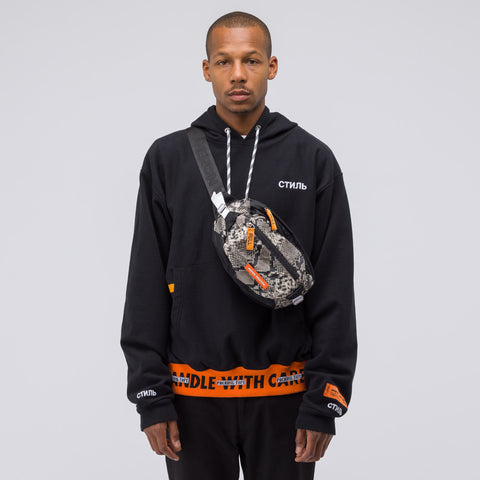 Heron Preston Padded Python Hip Bag in Multicolor Orange - Notre