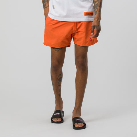 Heron Preston Reflective Swim Shorts in Orange/Orange - Notre