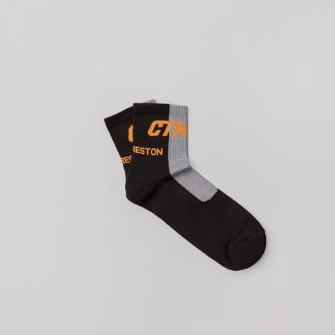 Heron Preston Short CTNMB Socks in Multicolor Orange - Notre