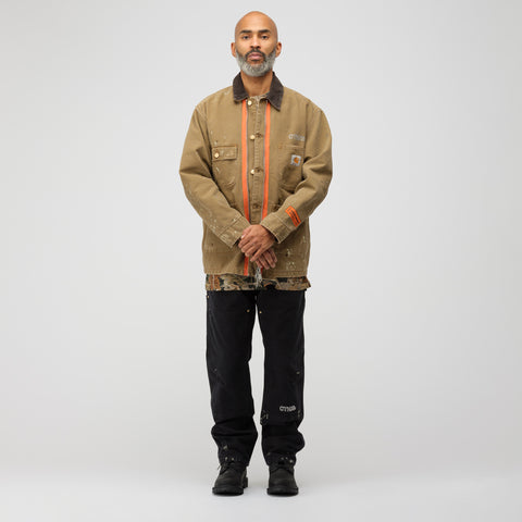 Heron Preston x Carhartt Jacket in Kaki Crystal - Notre