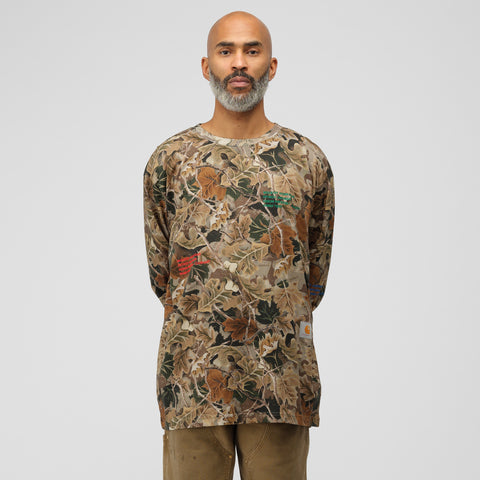 Heron Preston x Heron Preston Long Sleeve T-Shirt in Camo Multi - Notre