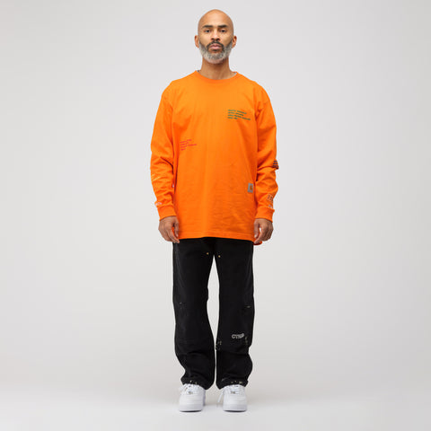 Heron Preston x Carhartt Long Sleeve T-Shirt in Orange Multi - Notre