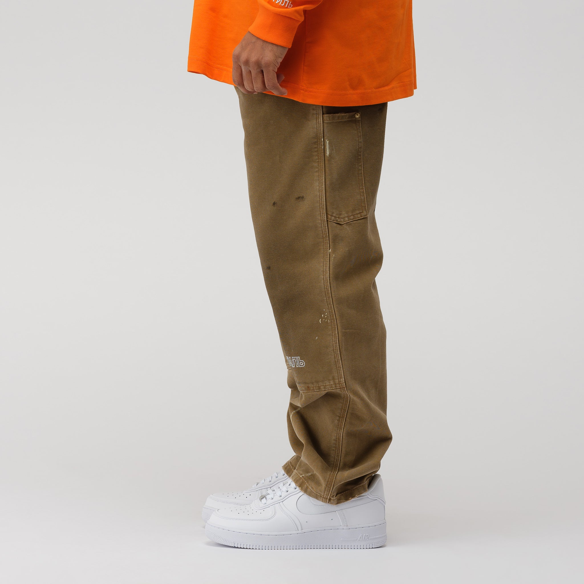 x Carhartt Pants in Kaki Crystal