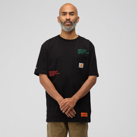 Heron Preston x Carhartt Short Sleeve T-Shirt in Black Multi - Notre