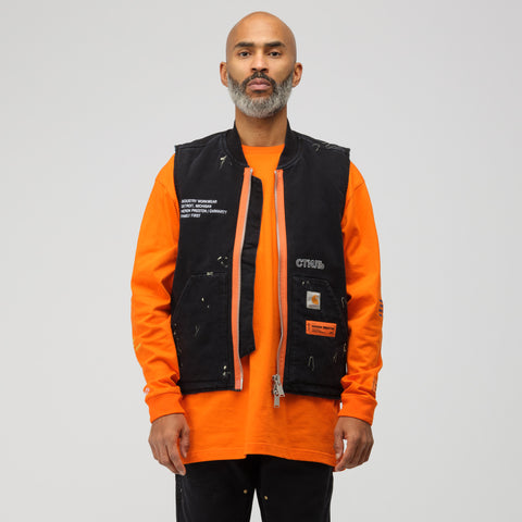Heron Preston x Carhartt Vest in Black Crystal - Notre