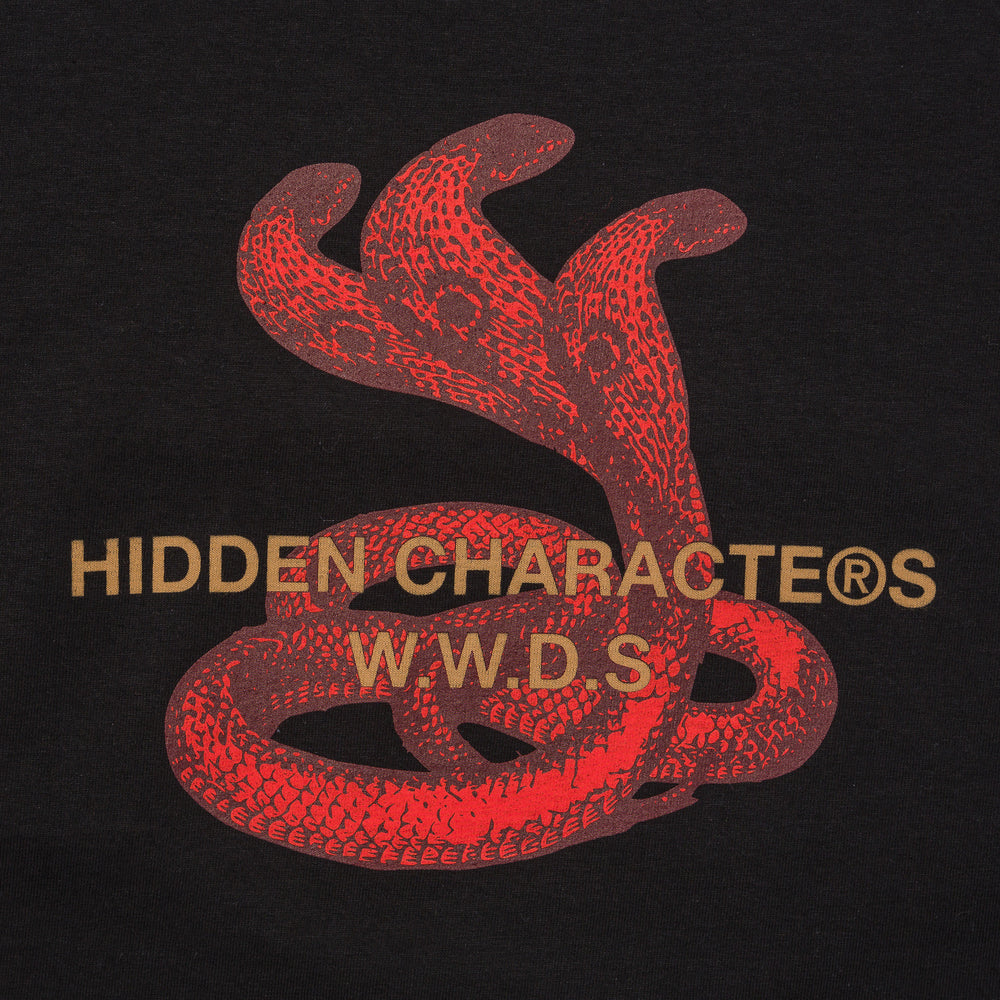 Hidden Characters Snake Tee in Black - Notre