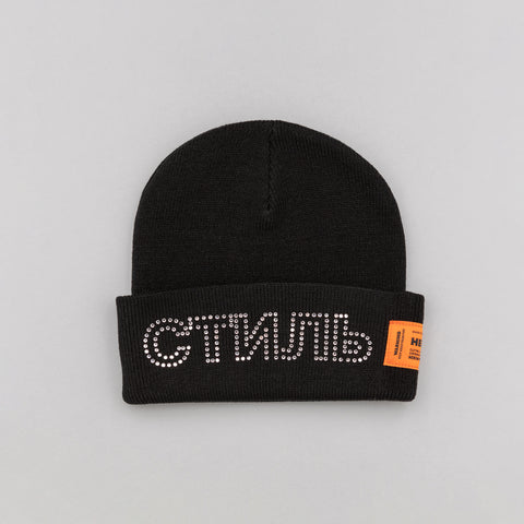 Heron Preston x Carhartt Beanie in Black Crystal - Notre
