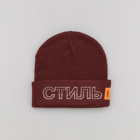 Heron Preston x Carhartt Beanie in Bordeaux Crystal - Notre