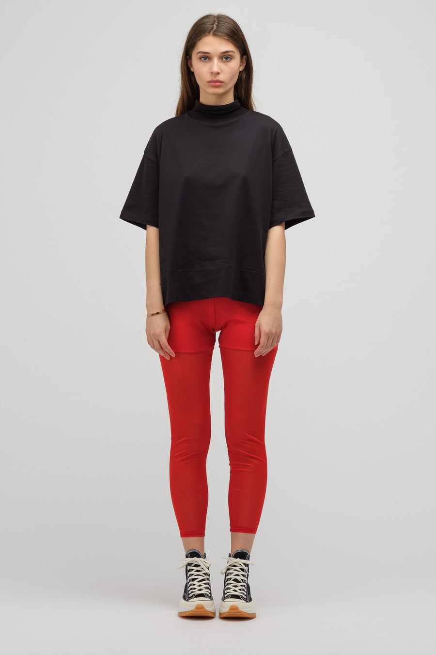 HYKE Knit Leggings in Red - Notre