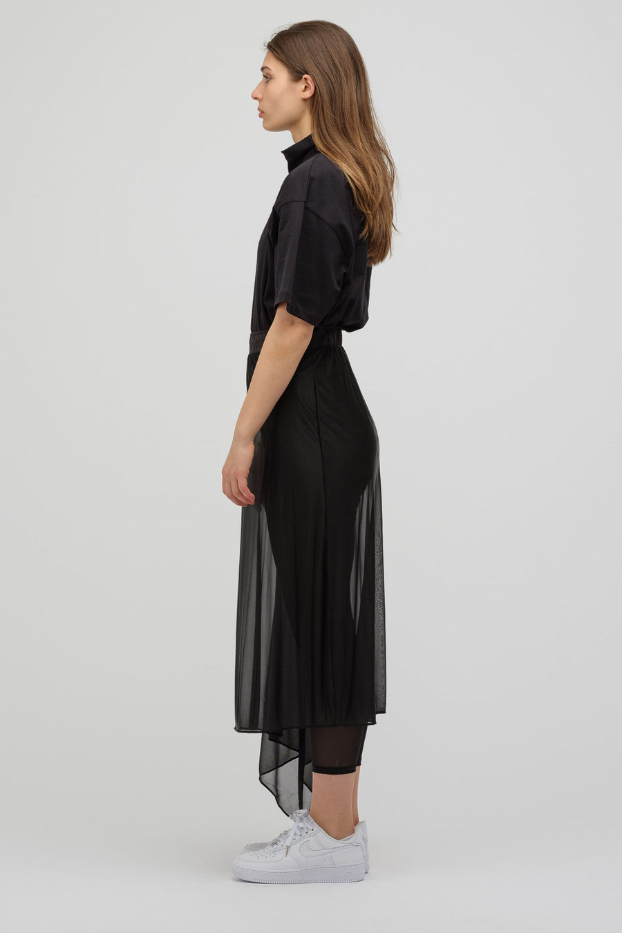 HYKE Knit Skirt in Black - Notre