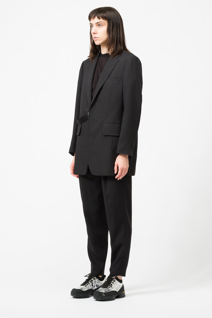 Hyke Woven Jacket in Black - Notre