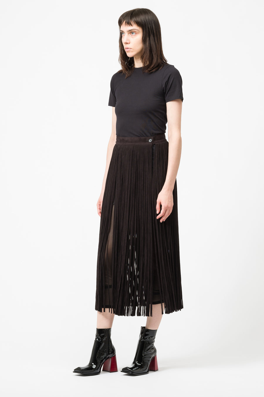 Hyke Woven Skirt in Black - Notre
