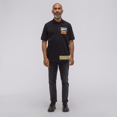 J.W. Anderson ADS Patches Polo in Black - Notre