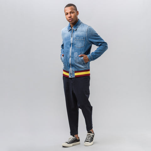 J.W. Anderson Bomber Jacket with Hood in Denim - Notre