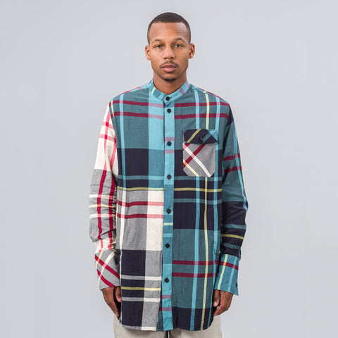 J.W. Anderson Crinkle Check Long Shirt in Mint - Notre