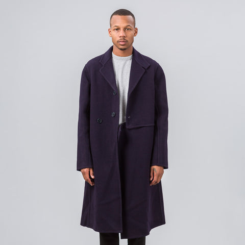 J.W. Anderson Cut Out Coat in Navy - Notre