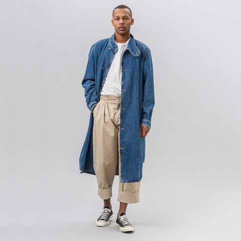 J.W. Anderson Denim Coat with Fold-over Collar - Notre