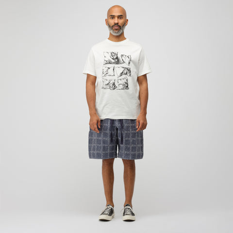 J.W. Anderson Dürer Pillows Short Sleeve T-Shirt in Off White - Notre