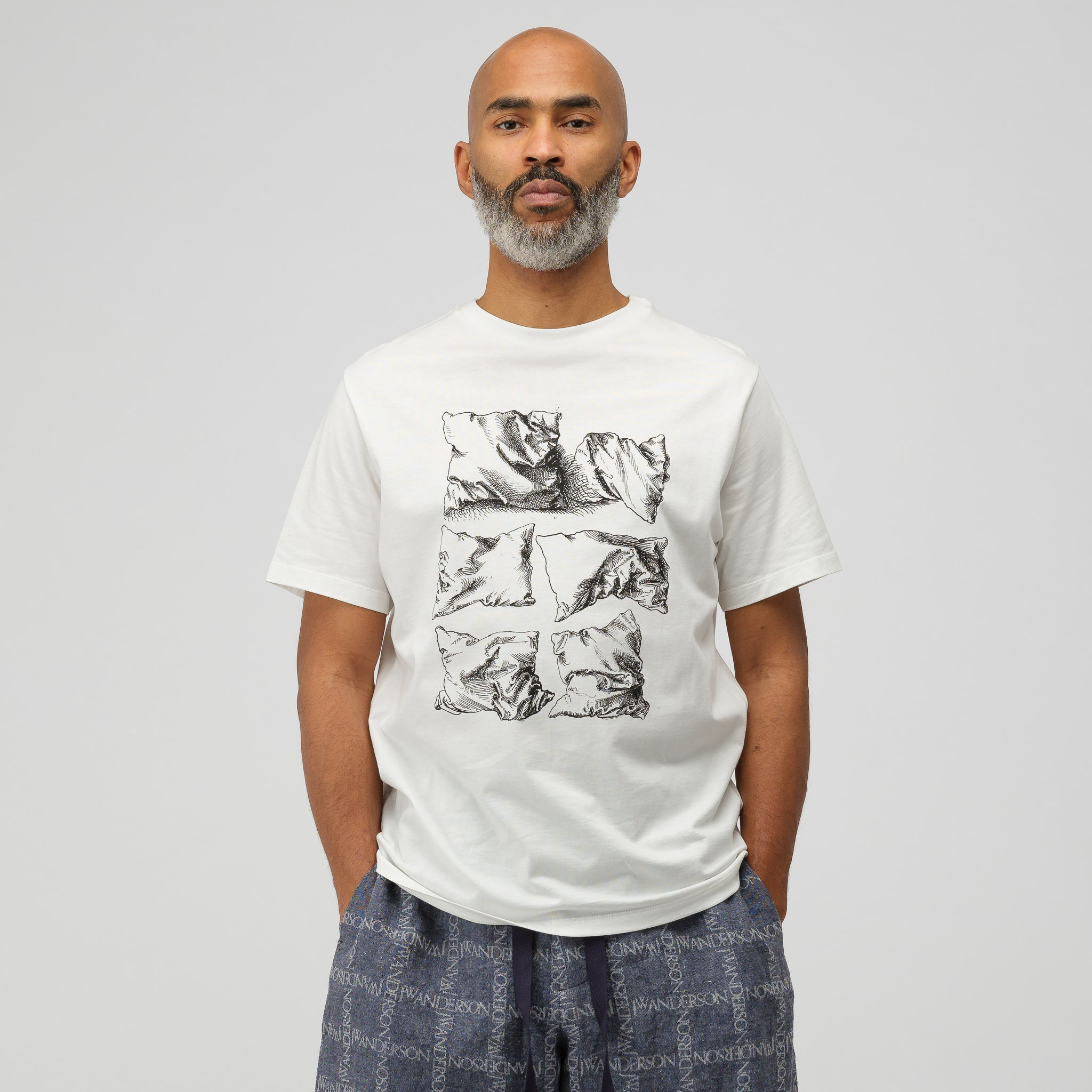 Dürer Pillows Short Sleeve T-Shirt in Off White