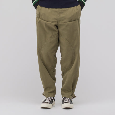 J.W. Anderson Garment Dyed Army Trousers in Khaki - Notre
