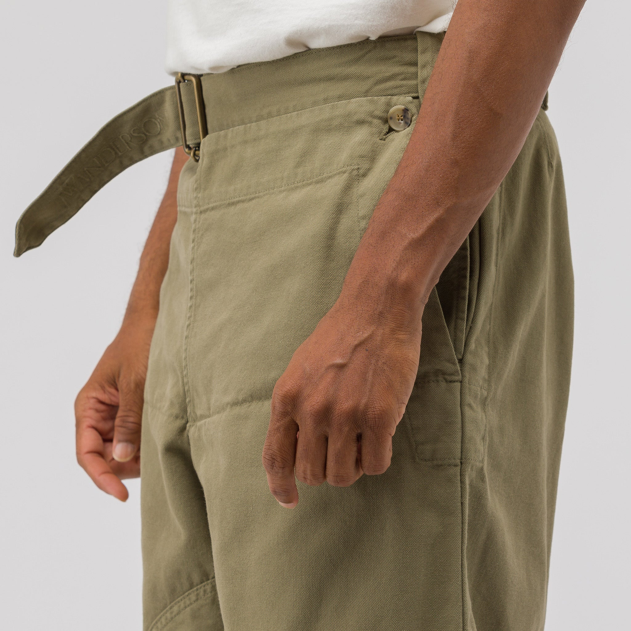 Garment Dyed Army Trousers in Khaki