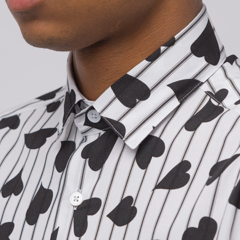 J.W. Anderson Heart Stripe Shirt in Black/White - Notre