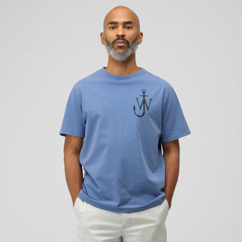 J.W. Anderson JWA Anchor Print Short Sleeve T-Shirt in Indigo - Notre