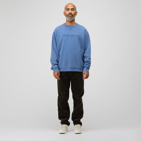 J.W. Anderson JWA Logo Embroidery Sweatshirt in China Blue - Notre