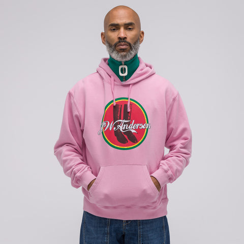 J.W. Anderson JWA Cola Boots Hoodie in Candyfloss - Notre