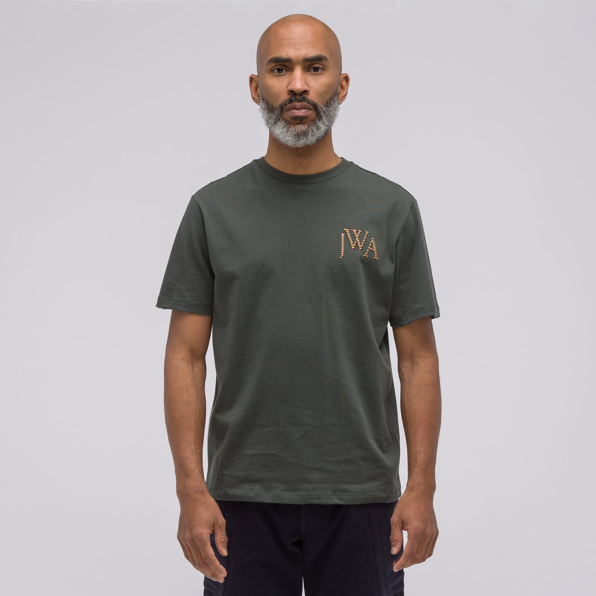 JWA Logo T-Shirt in Military Green