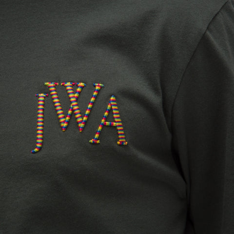 J.W. Anderson JWA Logo T-Shirt in Military Green - Notre