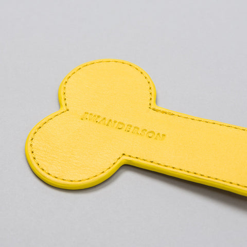 J.W. Anderson Leather Penis Keychain in Yellow - Notre
