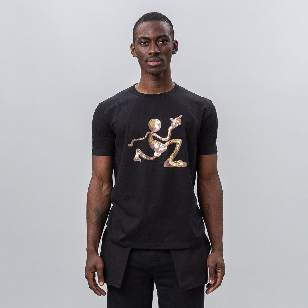 J.W. Anderson Mercury Man Logo T-Shirt in Black Notre 1