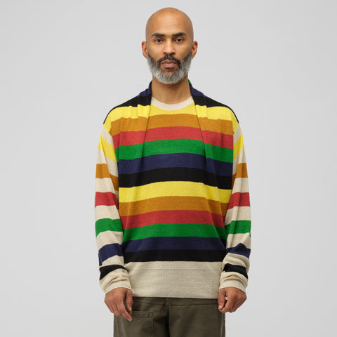 J.W. Anderson Multi Colour Stripe Knit in Papaya - Notre