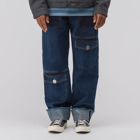J.W. Anderson Multi Pocket Denim Trousers in Indigo - Notre