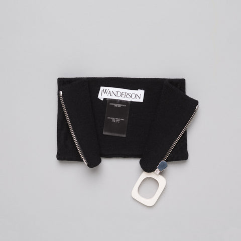 J.W. Anderson Neckband with Zip Detail in Black - Notre