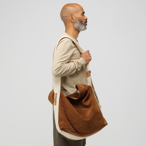 J.W. Anderson Oversized Suede Duffle in Chestnut - Notre