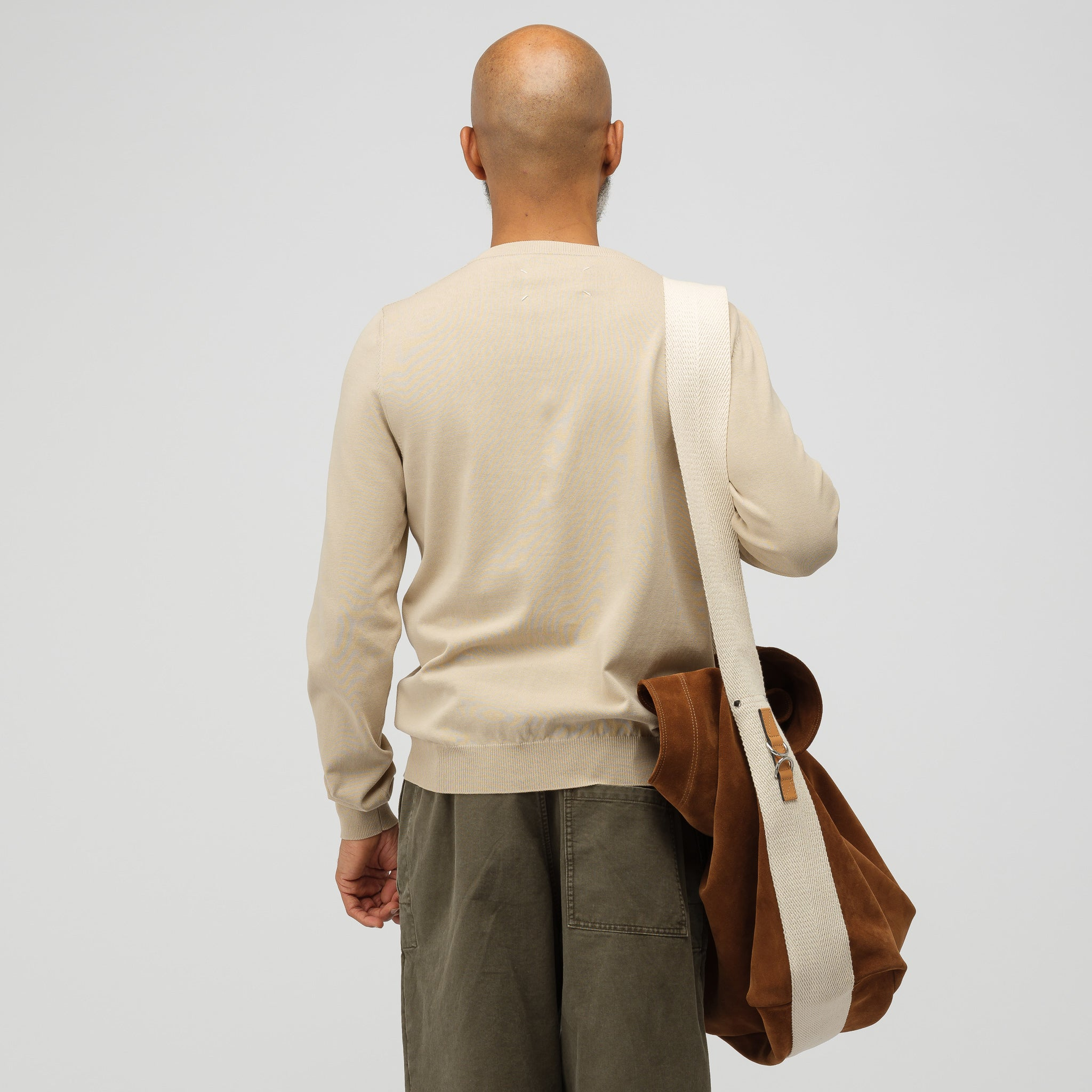 Oversized Suede Duffle in Chestnut