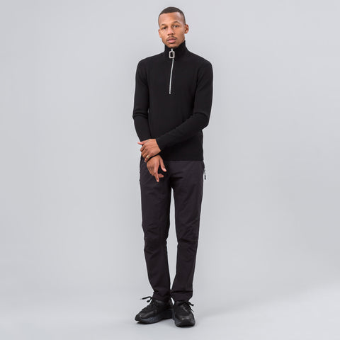 J.W. Anderson Stripe Merino Polo in Black - Notre