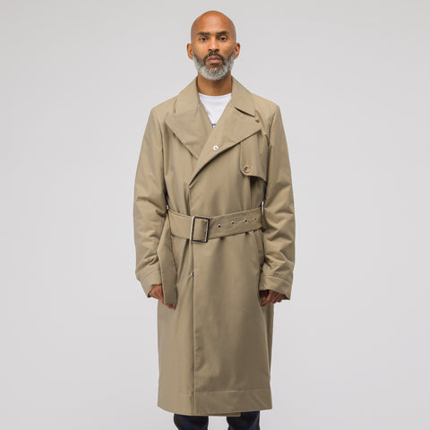 J.W. Anderson Wadded Trench Coat in Hemp - Notre