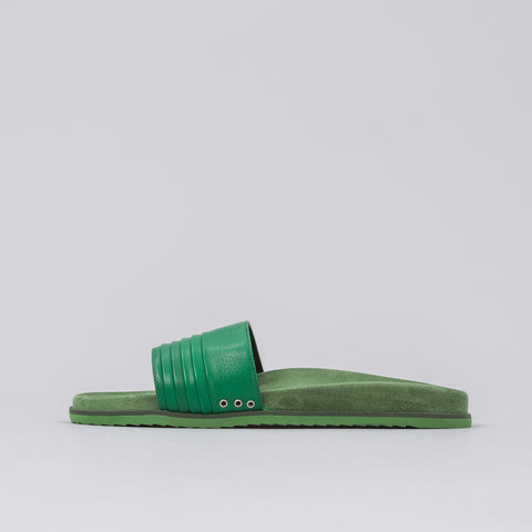 John Elliott Leather Sandal in Green - Notre