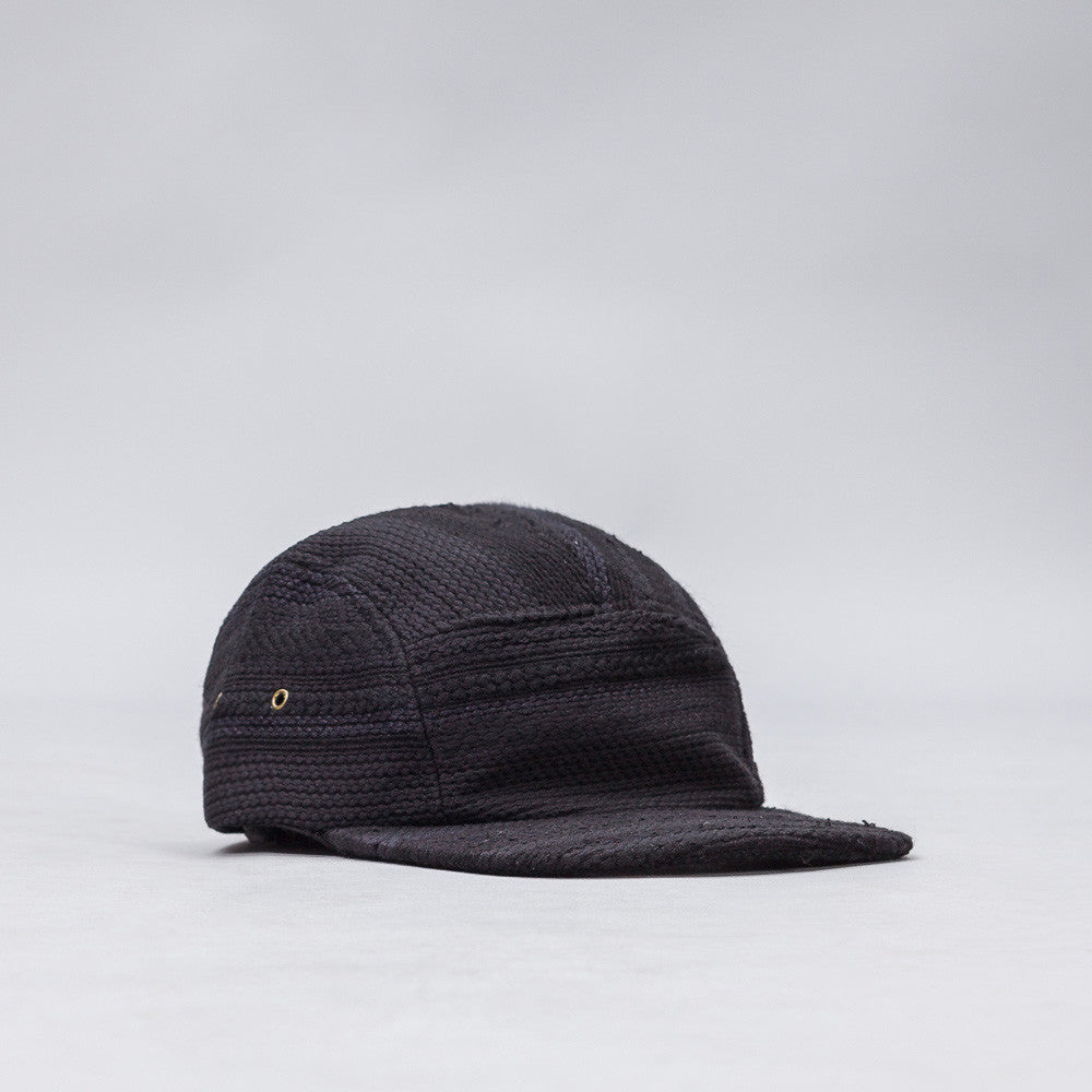 John Elliott 5 Panel Hat in Black Jacquard