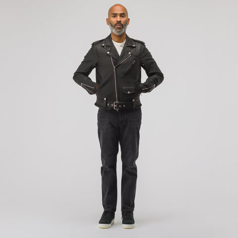 John Elliott Blackmeans Rider's Jacket in Black - Notre